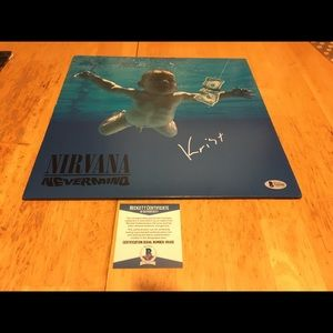 Nirvana nevermind vinyl Europe with autograph